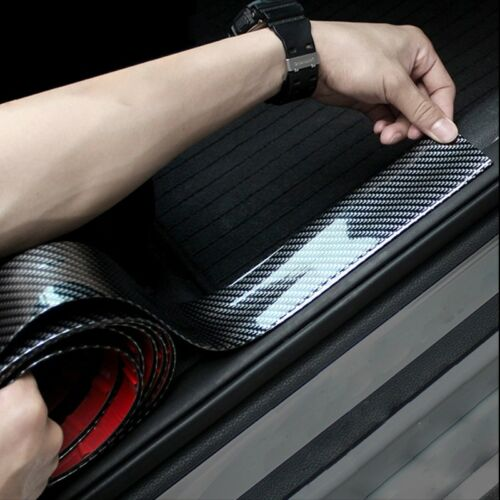 "Car Parts - 39x2"" 3D Carbon Fiber Car Trim Strip Bumper Trunk Lid Door Sill Protector Rubber"