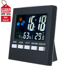 Colorful Alarm Calendar Weather Digital LCD Display Humidity Thermometer Clock T