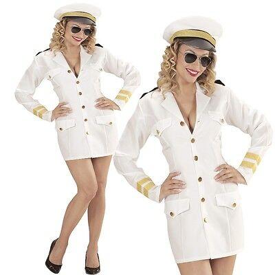Sexy Marine Offizier NAVY KAPTÄNIN Gr. L  (42/44) Captain Damen Kostüm #0686