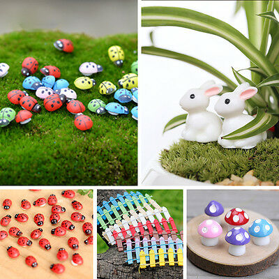 Miniature Fairy Garden Terrarium Figurine Ornament Bonsai DIY Craft Various Set
