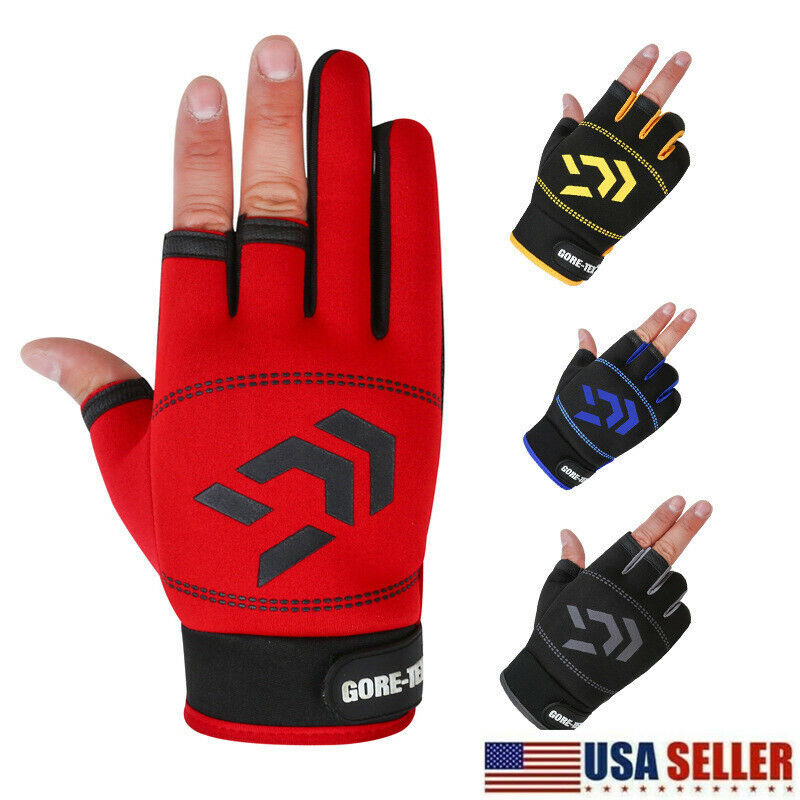 Anti-Slip Fishing Ridding Sporting Gloves Breathable Finger Waterproof Casual US