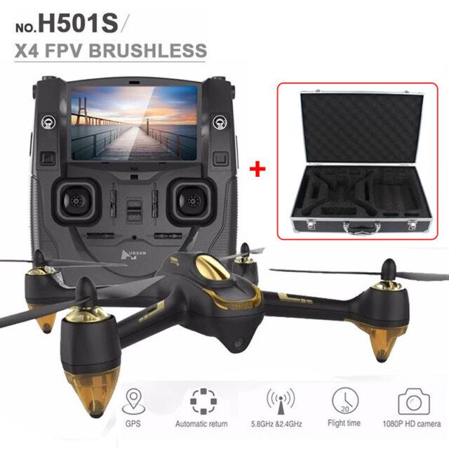 Hubsan X4 H501S 5.8G FPV RC Brushless Drone w/HD Camera Follow Me Waterproof Box