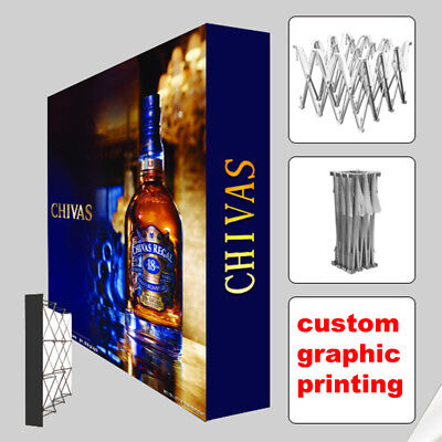 10ft Custom Pop Up Banner Trade Show Display Booth Backdrop Wall Exhibits
