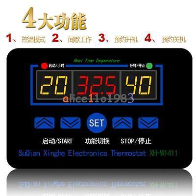 Xh-w1411 10a Ac 220v Led Digital Temperature Controller Thermostat Control