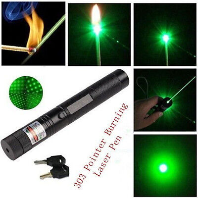 Adjustable Green Laser Pointer Lazer Pen Beam Light Focus 532nm 1mw UK