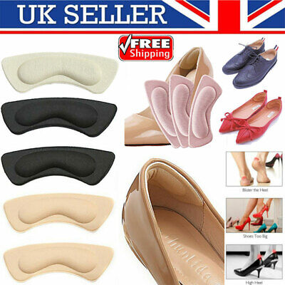 1 Pair Heel Grips Pads Liner Cushions Self-adhesive for Loose Shoes Extra Thick