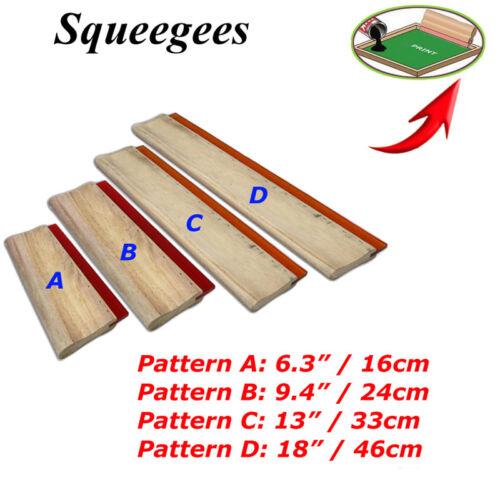 "4 pcs Screen Printing Squeegee 6.3""  9.4""13""18"" Ink Scraper Press Tool Coater"