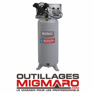 KING CANADA KC-6061V1 - COMPRESSEUR À AIR STATIONNAIRE DE 60 GAL