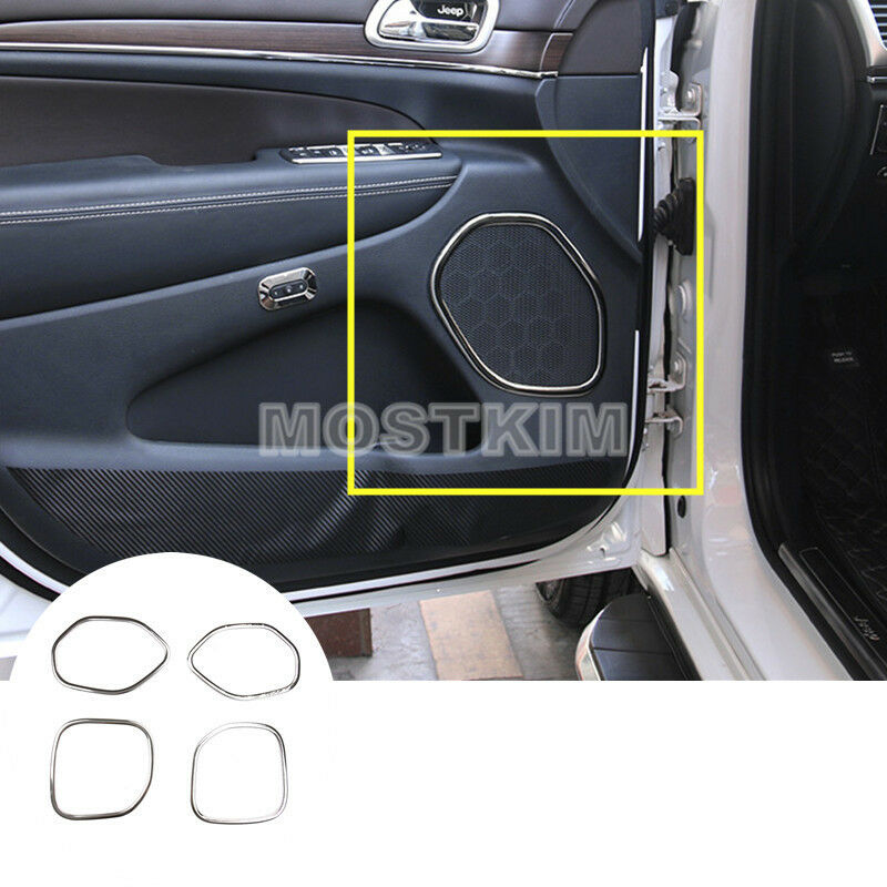 Steel Inner Rear Trunk Roof Speaker Cover Trim For Jeep Grand Cherokee 2011-2018