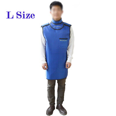 L Size 0.35mmpb X-ray Protective Apron Lead Rubber Protective Vest With Collar