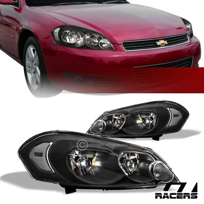 For 2006-2016 Chevy Impala/Limited/Monte Carlo Black Headlights Corner Signal nb