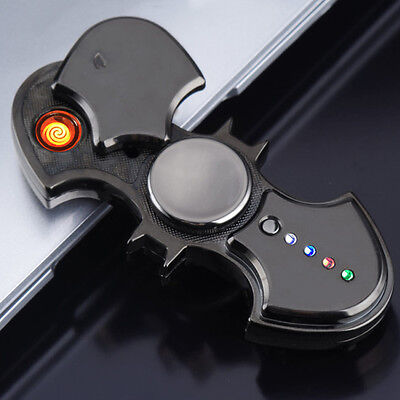 BATMAN Electronic Cigarette Lighter USB Spinner Fidget Spin Hand Toy Metal LED