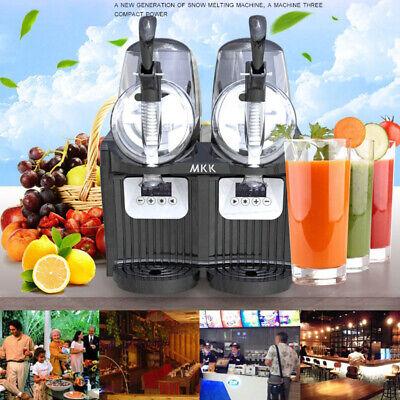 2 Tank Frozen Drink Slush Slushy Making Machine Juice Smoothie Maker 2*2L, used for sale  Shipping to Nigeria