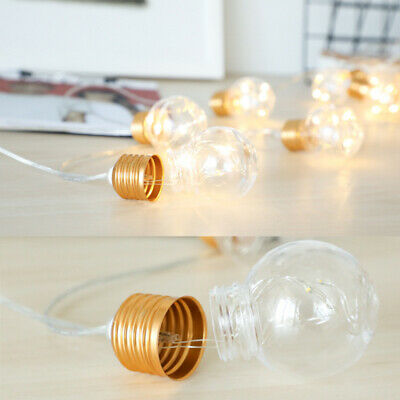 Battery Operated Globe Bulb LED G45 Ball String Fairy Light Outdoor Garland Lamp