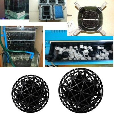 100Pcs Aquarium Bio Balls Filter Media Bag Wet/Dry Koi Fish Pond Reef w/ Sponge Bio Balls Filter Media