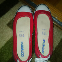 Red Converse Sandals, Size 7.