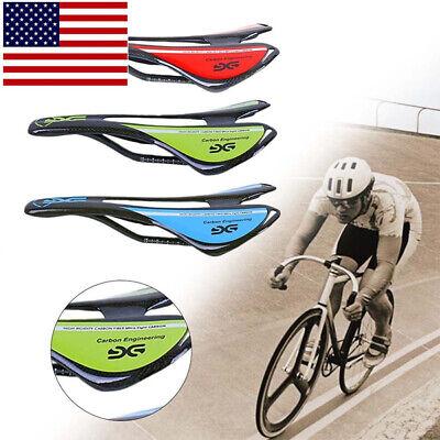Carbon Fiber Fiber Saddle (Bicycle Seat Saddle Carbon Fiber Bike Cushion Cycling Seats Super Light)