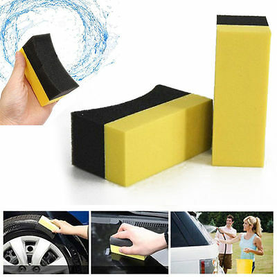 1/5/10pcs Car Professional Tyre Tire Dressing Applicator Curved Foam Sponge Pad