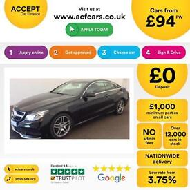 Mercedes-Benz E250 FROM £94 PER WEEK!