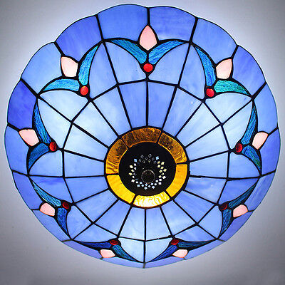 - Handcrafted Moroccan Tiffany Stained Glass Flush Mount Ceiling Light Fixture