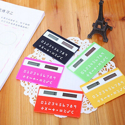 Cute Stationery card calculator handheld ultrathin Solar Power Pocket Calculator