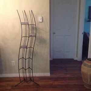 CD rack.  Wrought iron.