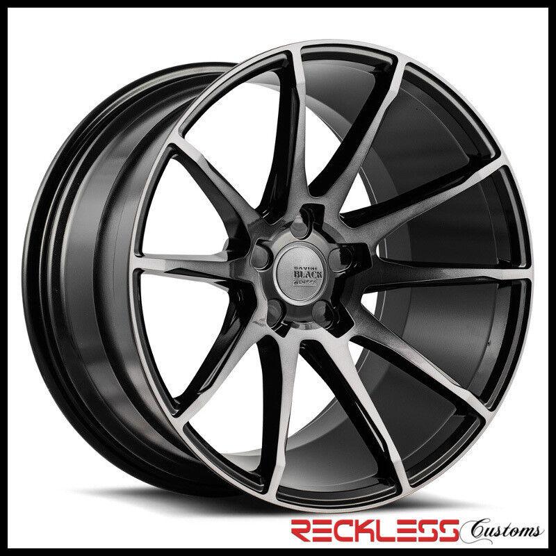"""Savini 20"""" Bm12 Ddt Black Concave Wheels Rims Fits W221 Benz S550 S63"""