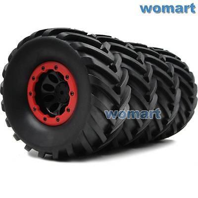 - 4pcs 2.2'' Crawler Truck Tires 130mm & 2.2 Beadlock Wheels Rims Fit RC 4WD Axial