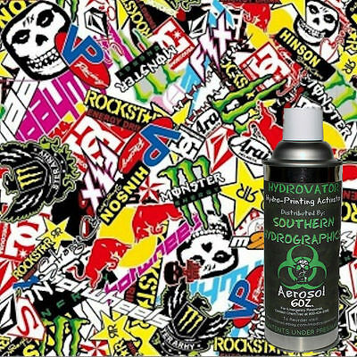 Hydrographic Film Water Transfer Hydro Dip 6oz. Activator W Sticker Bomb B Kit