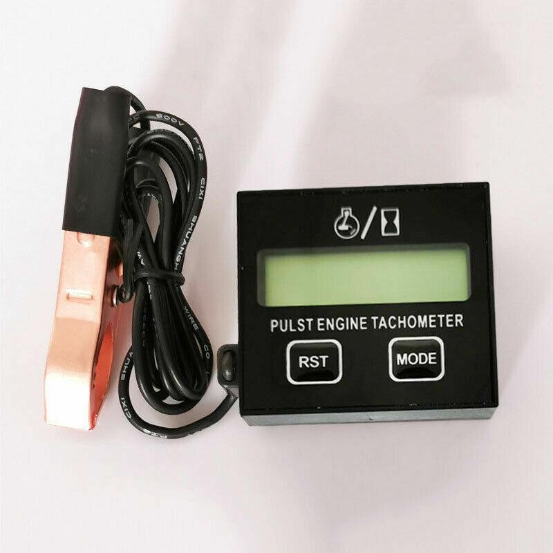 LCD Digital Motor Tachometer Chainsaw Mower Inductive Pulse Engine Tachometer KD