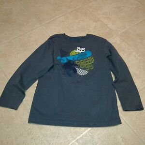 Boys Size 7 Long Sleeve Grey Snowboader Print T-Shirt by OshKosh