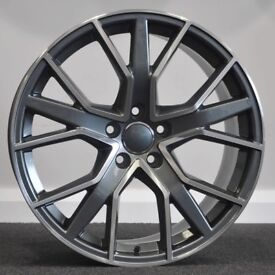 "19"" RS6D (GMF) Alloy Wheels & Tyres. Suitable for most Audi A4, A5 & A6 (5x112)"