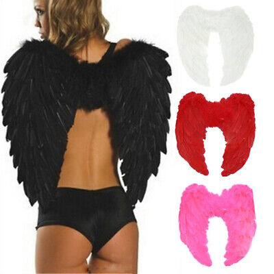Angel Wing Fairy Dress Costume Feather Halloween Cosplay Hen Night Party (Night Angel Costume)
