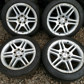 "17"" x 4 Genuine Mercedes C Class AMG SPORT alloy wheels. FREE PAY UP P"