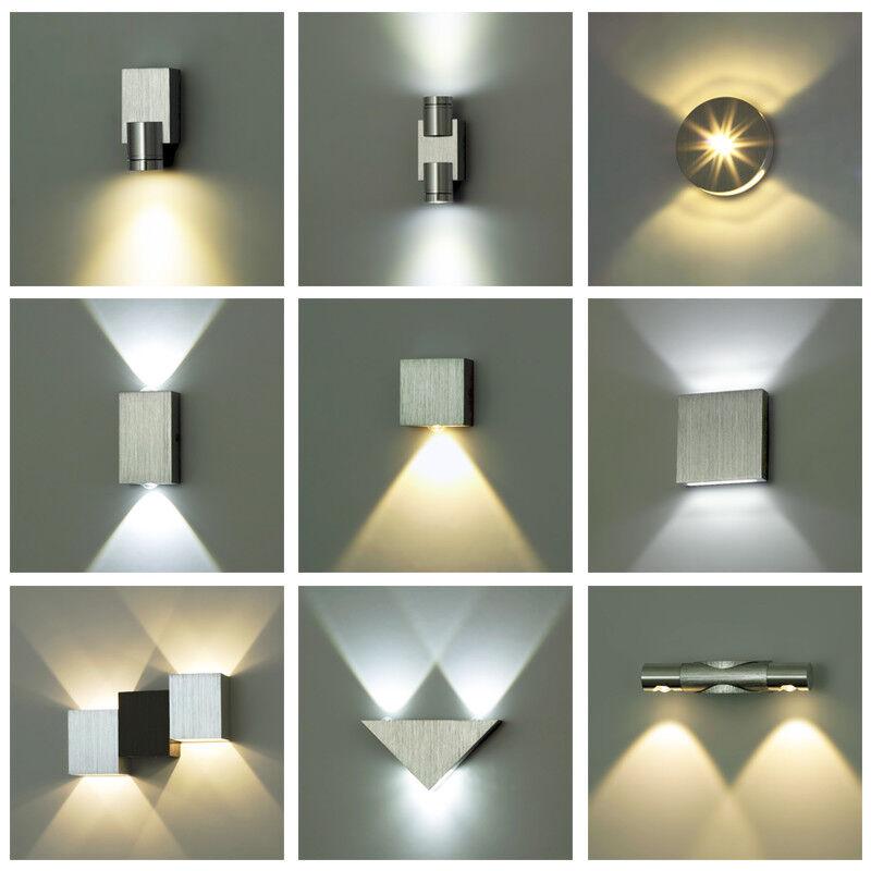 Aluminium LED MINI Deko Wandleuchte LEDia 1W 2W Flurlampe Flurleuchte  KWAZAR
