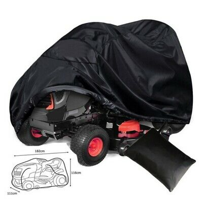 Black Lawn Tractor Riding Mower Cover Waterproof Garden Outdoor (Black Tractor)