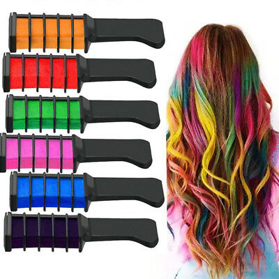 10x Color Hair Highlight Chalk Dye Temporary Comb DIY Disposable Kit Halloween - Halloween Hair Dye