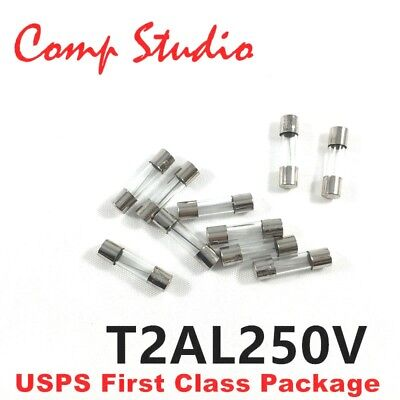 10pcs 2a 250v Slow Blow Fuse Slow-acting Fuse 2 Amp Time-delay Fuse 5x20mm