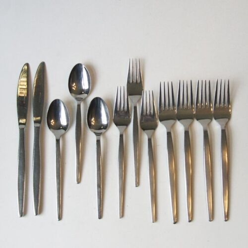 12 Piece Lot Hanford Forge Northern Sea Stainless Steel Flatware Japan