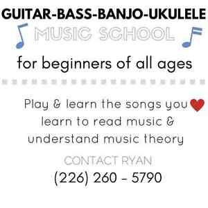 GUITAR-BASS-BANJO-UKULELE MUSIC SCHOOL