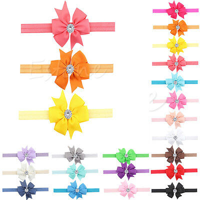 10Pcs Newborn Baby Girl Bow Headband Infant Toddler Hair Band Girls Accessories