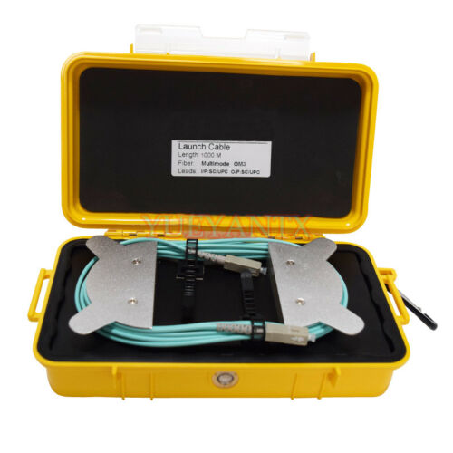 OTDR Dead Zone Eliminator 1000M Fiber OTDR Launch Cable Box MM OM3 SC/UPC-SC/UPC