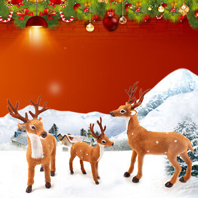 Xmas Reindeer Cute Christmas Party Decor Ornament Sika Deer Indoor Decoration