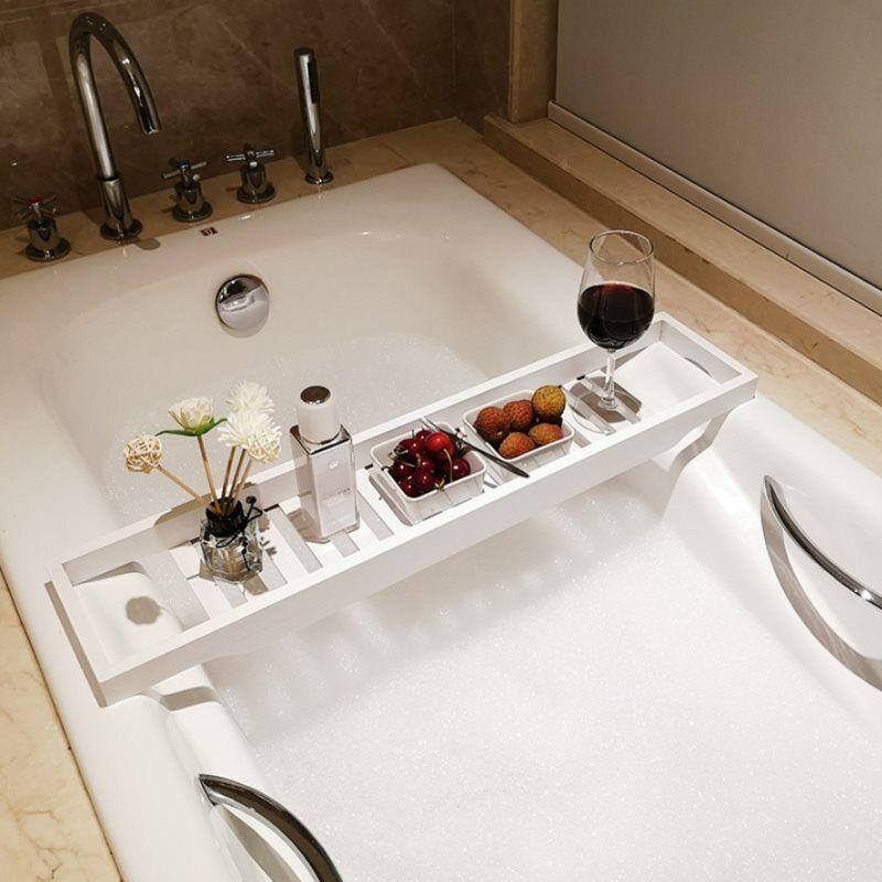 Bathtub Caddy Holder Bath Tub Rack Tray Bathroom Shelf Spa Toilet Bath Organizer