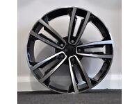 """18"""" VW 2017 GTD style alloy wheels & tyres VW Jetta,Passat,Caddy Golf MK5,MK6,MK7 Etc 5x112"""