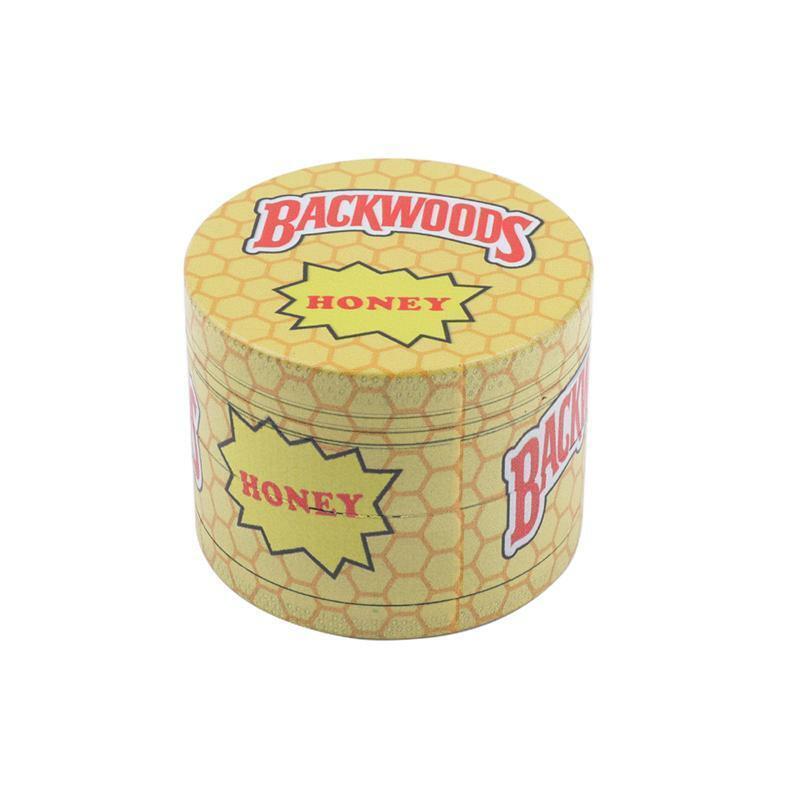 Large 55mm Backwoods Kitchen Spice Grinder Yellow Banana Herb Honeycomb Cigar