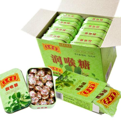 (王老吉润喉糖8盒 Run Hou Tang)Cool refreshing mint can eliminate phlegm to stop smoking