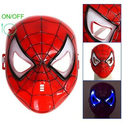 MASCHERA  LED Spider-man Mask for Halloween Masquerade Cosplay REALIZZATA IN PVC