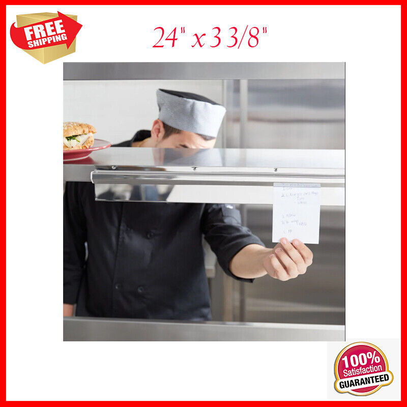 Stainless Steel Wall Mount Silver Restaurant Ticket Rod Check Holder 24  - $26.86
