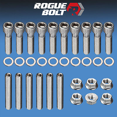 Ford Intake Bolts - BBF INTAKE MANIFOLD STUD / BOLT KIT STAINLESS STEEL BOLTS BIG BLOCK FORD 429 460
